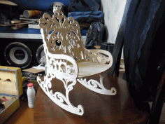 Rocking Chair Laser Cut Free DXF File