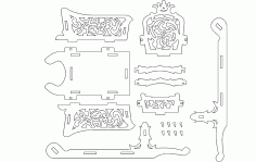 Schlitten Puzzle Free DXF File