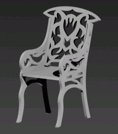 Laser Cut Stul Chair Free DXF File