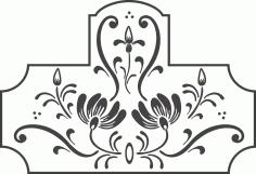 Swirl Floral Design Art Free DXF File