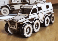 Laser Cut Armored Vehicle Free CDR Vectors Art