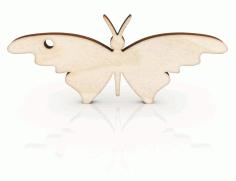 Laser Cut Butterfly Keychain Free CDR Vectors Art