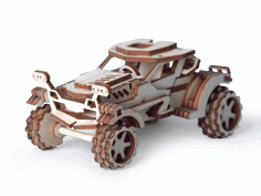 Laser Cut Scorpio Wooden Toy Car Model Free CDR Vectors Art