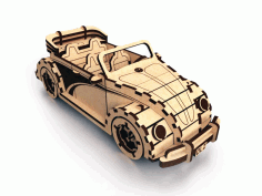 Laser Cut Wooden Volkswagen Fusca Cabriolet Free DXF File