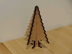 Laser Cut Christmas Tree Ornament Plywood Free DXF File