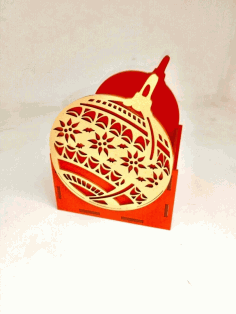 Laser Cut Christmas Ornament Shape Organizer Free CDR Vectors Art