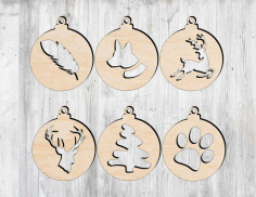 Laser Cut Christmas Tree Decorations Free CDR Vectors Art