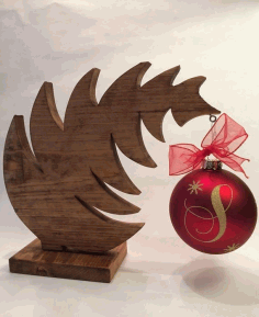 Laser Cut Christmas Tree Ornament Hanger Free CDR Vectors Art
