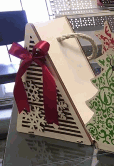 Laser Cut Christmas Tree Packaging For Gift Free CDR Vectors Art