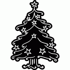 Christmas Tree Silhouette Free DXF File