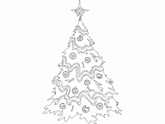 Festive Things Christmas Tree Free DXF File