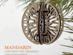 mandarin. Christmas Tree Ornament Free DXF File
