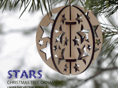 stars. Christmas Tree Ball Ornament Free DXF File