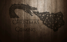 Christmas Dragon Free CDR Vectors Art