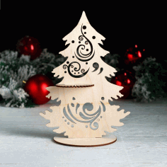 LaserCut Napkin Holder Tree Shape Free CDR Vectors Art