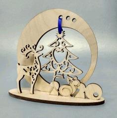 Laser Cut New Year Souvenir Free CDR Vectors Art