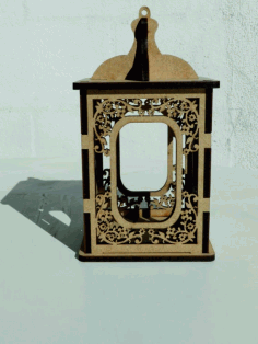 Laser Cut Wooden Candle Holder Candlestick Box Free CDR Vectors Art