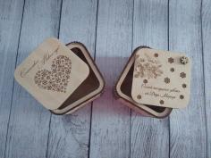 Santa Claus Gift Box Laser Cut Template Free CDR Vectors Art