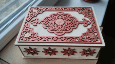 Cnc Laser Cut Decorative Jewelry Box Free CDR Vectors Art