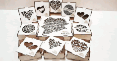 Laser Cut Box For Chocolates Free CDR Vectors Art