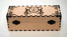Laser Cut Decoration Box Dragon Image Free CDR Vectors Art