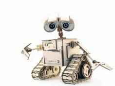Laser Cut Wooden Robot Puzzle Model Cnc Free CDR Vectors Art