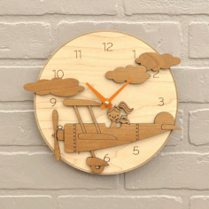 Laser Cutting Wooden Clock Cnc Free CDR Vectors Art