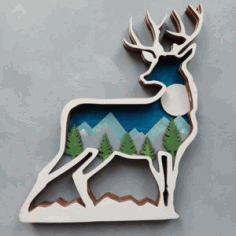 Multilayer Deer Wall Hanging Cnc Free CDR Vectors Art