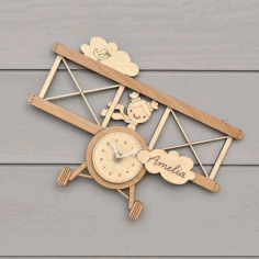 Wooden Clock Laser Cutting Cnc Free CDR Vectors Art