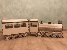 Wooden Train Laser Cutting Cnc Free CDR Vectors Art