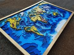 Wooden World Map Wall Hanging Cnc Free CDR Vectors Art