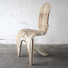 Designer Chair Cnc Free DXF File