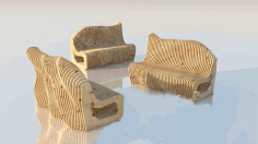 Parametric Sofa Sitting Cnc Free DXF File
