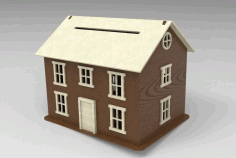 Wooden House Laser Cutting Cnc Free DXF File