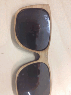 Cnc Cut Bamboo  Sunglasses Free DXF File