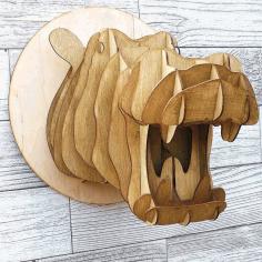 Hippo Wooden Cnc Cutting Free CDR Vectors Art