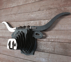 Wooden Buffalo Cnc Cutting Free CDR Vectors Art