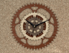 Wooden Gear Clock Cnc Free CDR Vectors Art