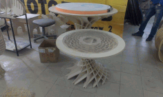 Wooden Parametric Table Cnc Free CDR Vectors Art