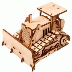 Wooden Tractor Cnc Cutting Free CDR Vectors Art