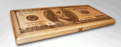 Dollar 100 Box Free DXF File