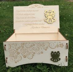 Laser Cut Beautiful Wooden Gift Box Free CDR Vectors Art