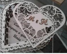 Laser Cut Heart Box Free CDR Vectors Art