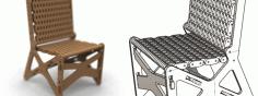Chair Laser Cut Free CDR Vectors Art