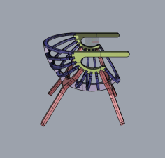 Chair Shell 4 Legs Free CDR Vectors Art