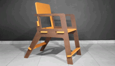 Chair Wooden Test Cutting Free DXF File