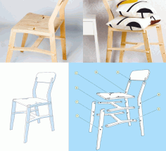 Chair x-chair Free DXF File