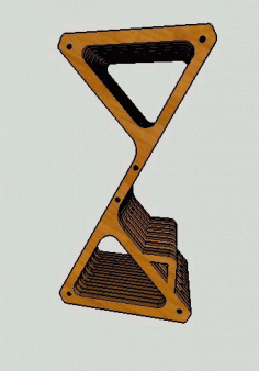 Cnc Laser Cut Parametric Delta Bar Stool Free DXF File