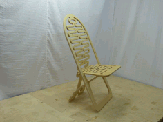 Laser Cut Folding Chair Design Free DXF File
