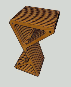Delta Bar Stool Parametric Free CDR Vectors Art